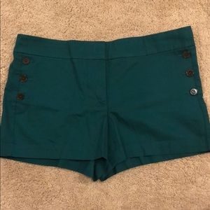 LOFT Chino Shorts with Button-Front Detail